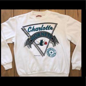 Other - White Charlotte Hornets Vintage Sweatshirt Size M
